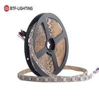 GS8208 RGB LED Pixel Strip 12V WS2812B WS2813 Dual Signal Individually Addressable 30/60pixels/leds/m 5m Pixel Strip IP30/65/67