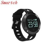 Smartch DM58 Смарт-часы Мониторы Фитнес трекер сердечного ритма браслет Спорт шагомер светодиодный Сенсорный экран Смарт часы с зарядки