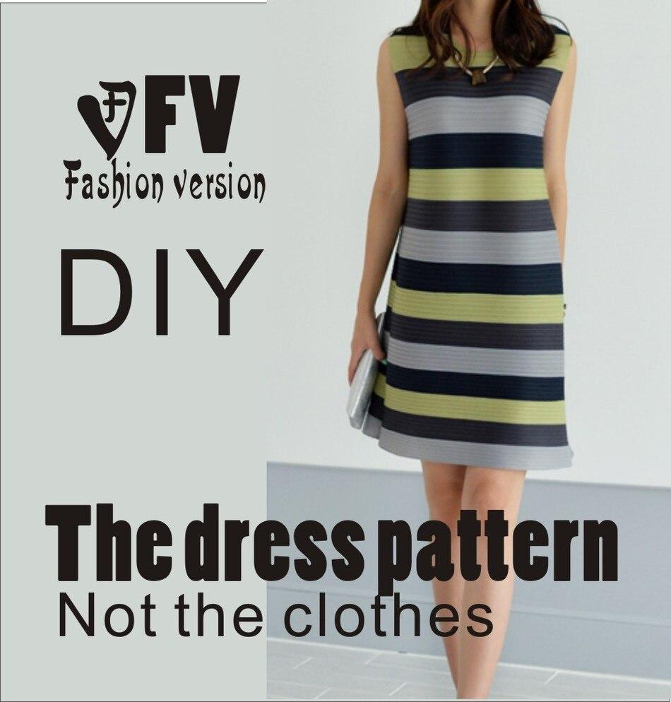 ⑥Vestidos Costura patrón plantilla Cúter dibujo ropa DIY (no venta ...