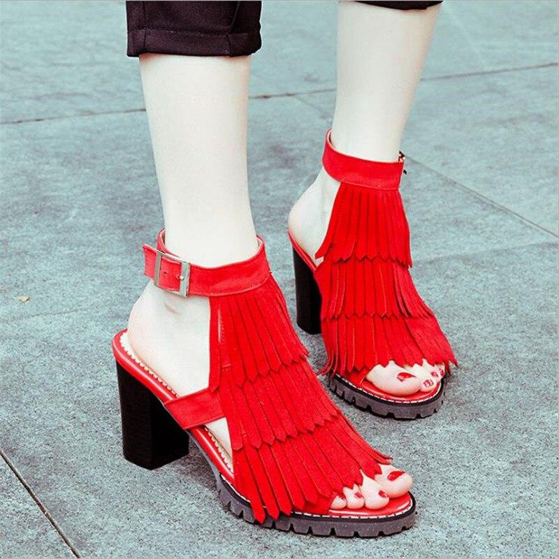 Plus Size 34-43 Hot 2017 Summer Women Sandals Fashion High Heels Sandal Sexy Gladiator T-strap Platform Party Dress Shoes Woman big size 32 43 fashion party shoes woman sexy high heels platform summer pumps ankle strap sandals women shoes