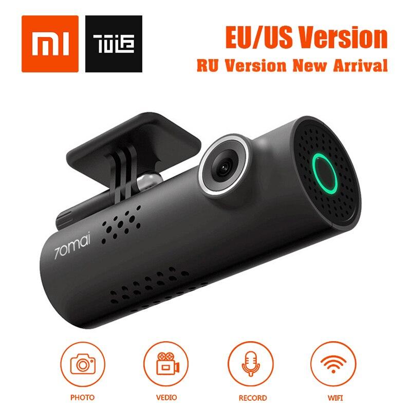 En Stock! XiaoMi 70Mai 70 Minutes Smart Voiture DVR RU/EU/US Version 1080 p Sans Fil Dash Cam 130 Degrés grand Angle IMX323 VoiceControl