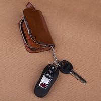 Creative Leather Key Chain Rings Zipper Car Keychains Ring Bag For Honda civic Peugeot 407 308 508 2008 Nissan qashqai j10 j11