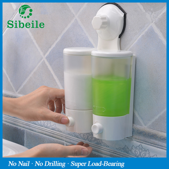 SBLE Bathroom Hotel Liquid Soap Dispenser Powerful Suction Cup Shower  Lotion Shampoo Condition Bottle Container Dispensers