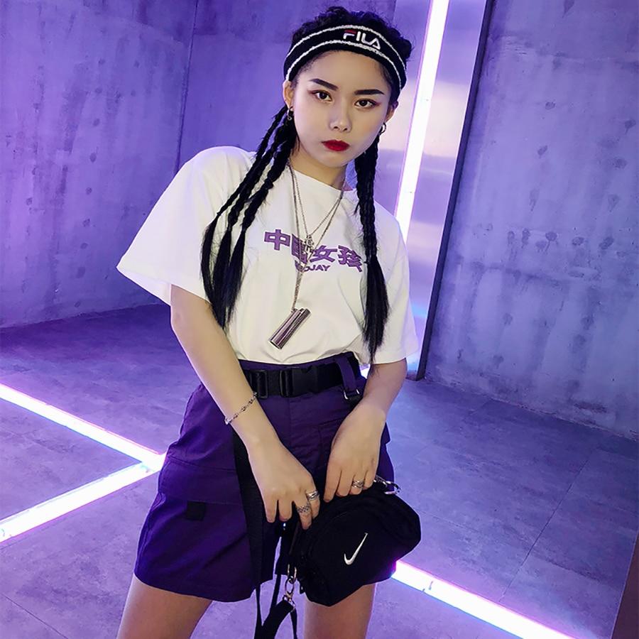 Casual Summer   Shorts   Women High Waist Harajuku Korean Fashion Sweatpants Mini   Short   Feminino Street Style Rave Hotpants 50H0259