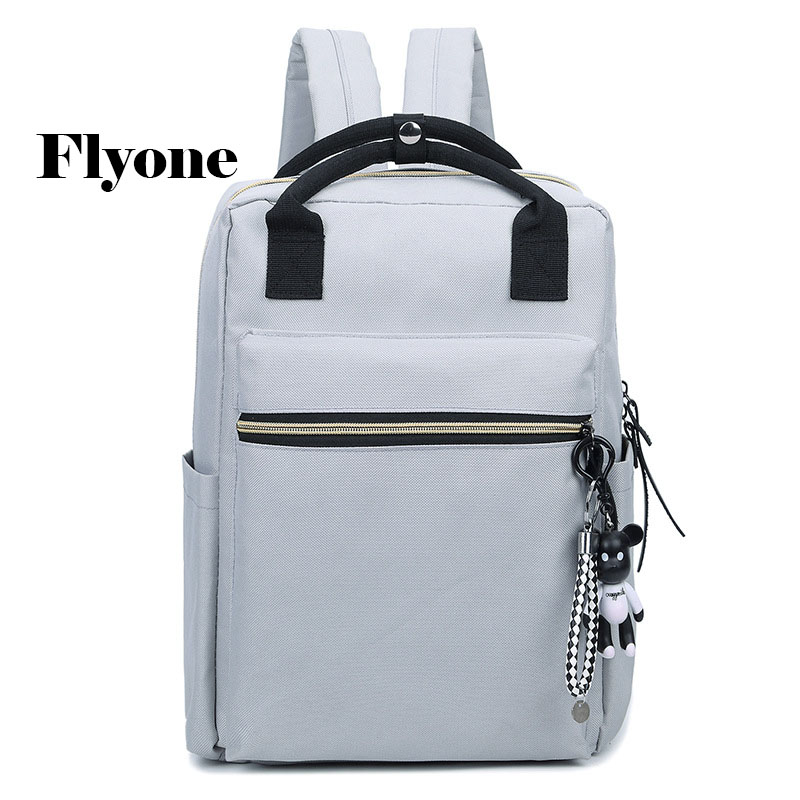 Flyone Women and Men bag Backpack female Unisex shoulder bags laptop Backpack High-capacity backpack Canvas bag Travel bag new vintage backpack canvas men shoulder bags leisure travel school bag unisex laptop backpacks men backpack mochilas armygreen