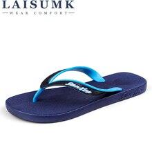 купить 2019 LAISUMK Cool Punk Skull Zombie Design Men's Flip Flops Fashion Summer Beach Water Rubber Slippers Male Flats Sandals Shoes по цене 785.35 рублей
