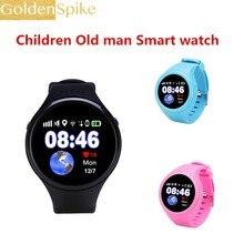 Original T88 gps telefone do relógio Inteligente telefone do Relógio Monitor De Freqüência Cardíaca GPS Tracker SOS chamada de emergência com o cartão sim
