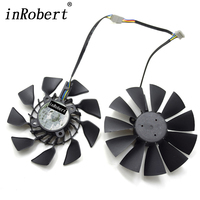 1 Pair New EVERFLOW T129215SU DC 12V 0 5A PWM 5Pin GPU VGA Cooler Fan For