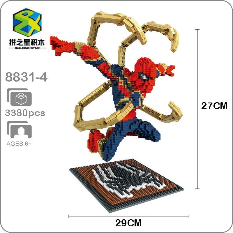 BS Star Marvel Avengers Iron Man Super Hero Micro Mini Building Nano Blocks Toy