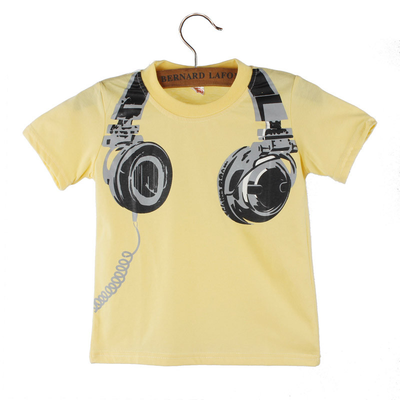 Summer-Baby-T-shirt-for-Boy-Headphone-Printing-Childrens-T-shirts-for-Boys-Short-Sleeve-Cotton-Tops-Clothes-Meninos-Kids-Shirt-1