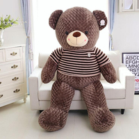 150cm Big Teddy Bear Plush toys Bear hull Stuffed animal semi finished Bear Skin Teddy Bear skin Coat Soft Toys For Girls