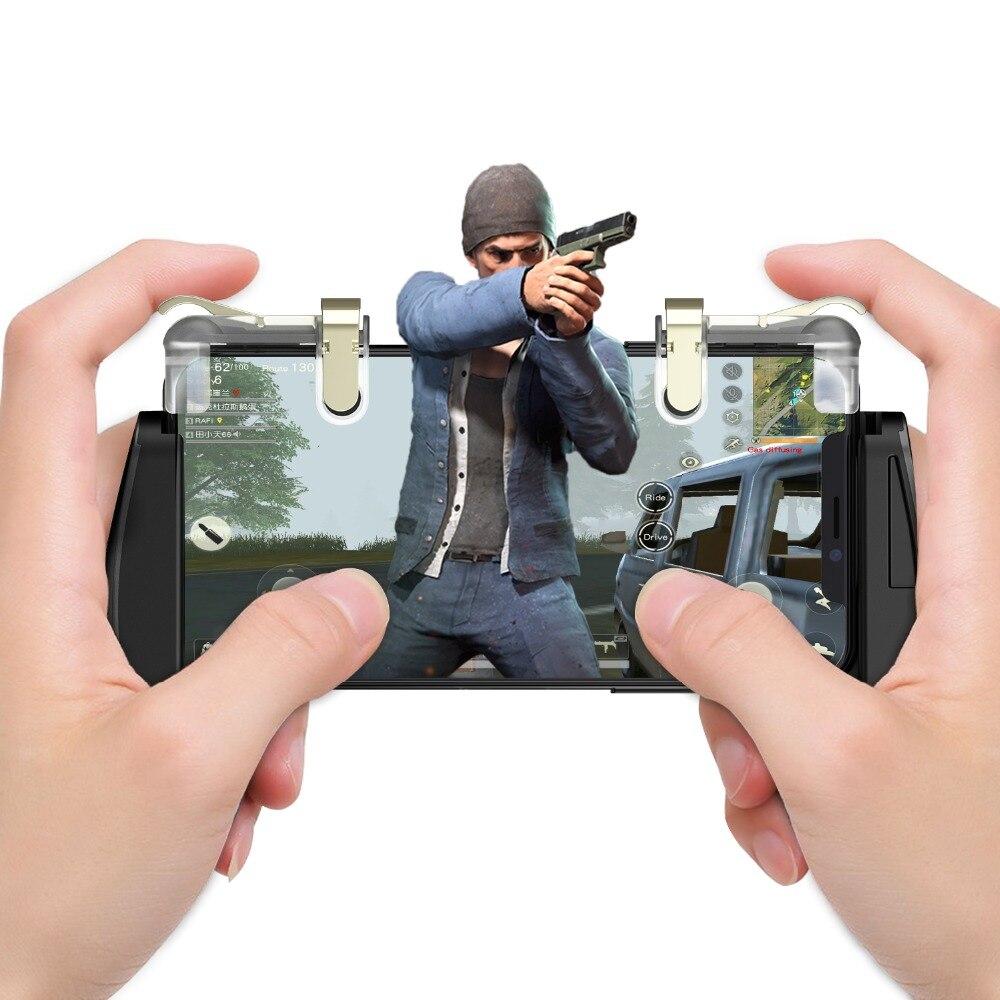 GameSir F2 Jeu Firestick Grip pour Android et iOS Téléphone, 2 Déclenche, jeu Support de Montage Trigger Feu Bouton Objectif Clé