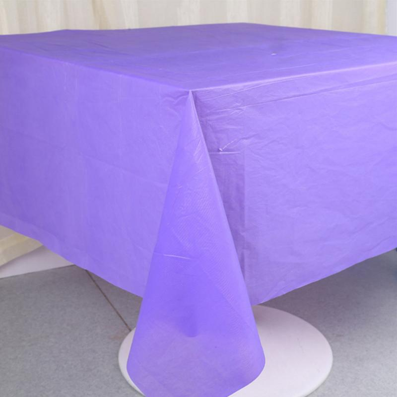 Image 3 - 137x183cm Solid Color Disposable Tablecloth Kids Happy Birthday Wedding Party Tablecover Supplies White Black red yellow-in Disposable Party Tableware from Home & Garden