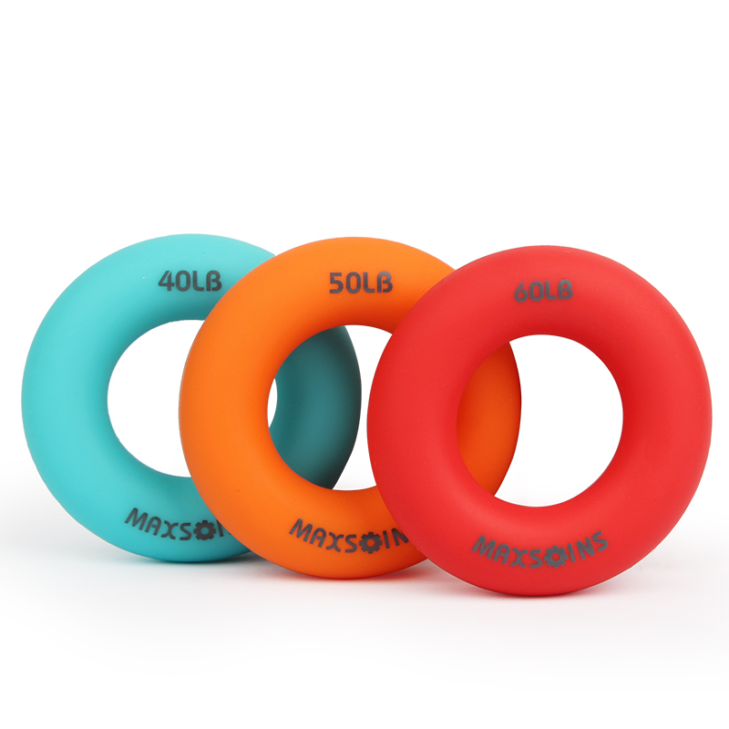 O Hand Gripper Grip Silicone Ring Hand Resistance Band Finger Stretcher-Exercise For Forearm Wrist Training Carpal Hand Expander