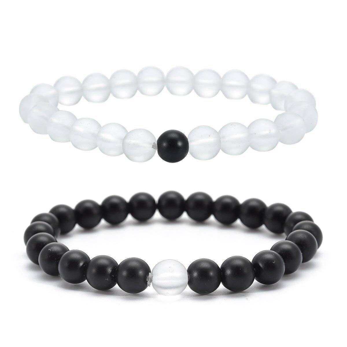 Distance Bracelets Strong Elastic Friends Relationship Couples His Hers Beads Bracelets