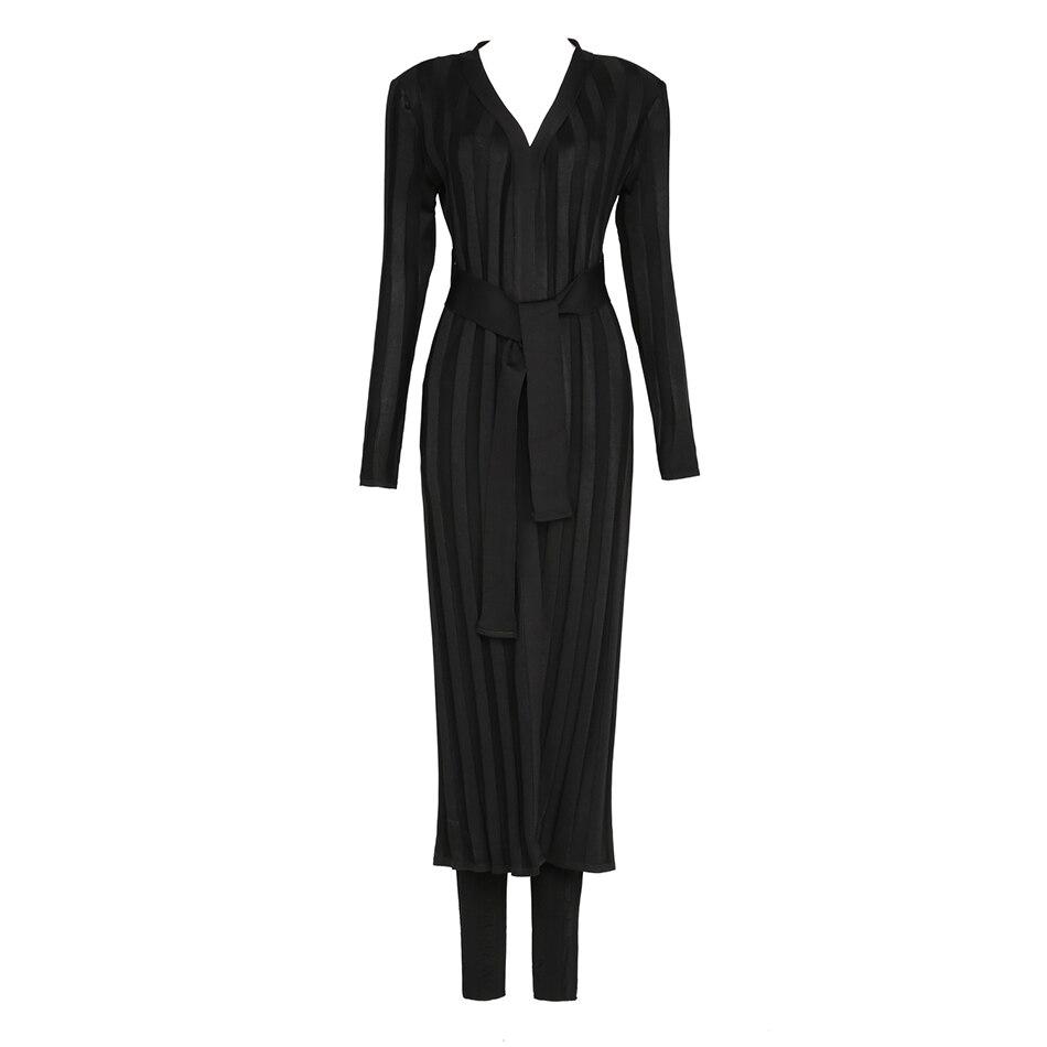 Robes Abricot Gris 2017 Deux Femmes Party Veste Longues Celebrity Automne Définit Manches Nouveau Clubwear Set Manteaux Pièces Noir qqxTpO6