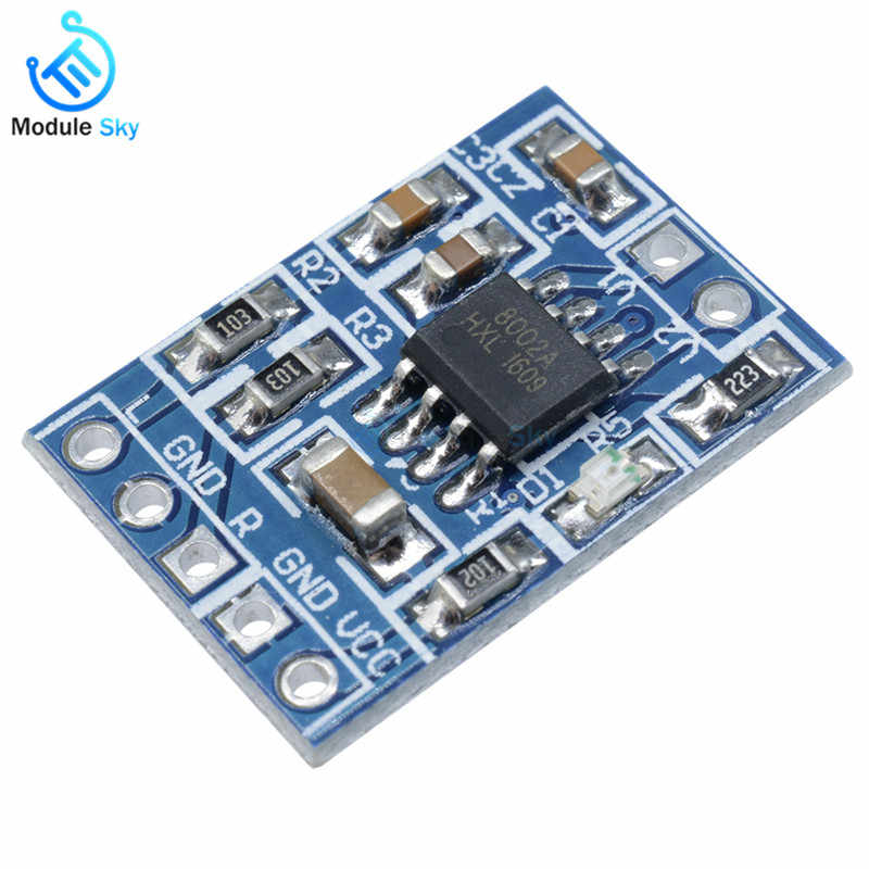 Super Mini HXJ8002 Audio Power Amplifier Board Mono Channel Voice low noise Amplifiers Module 2.0-5.5V Replace PAM8403