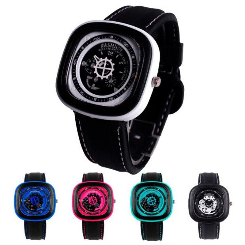 Durable Fashion Rubber Band Square Quartz Casual Sports Wrist Watch quartz watch watch women men relogio
