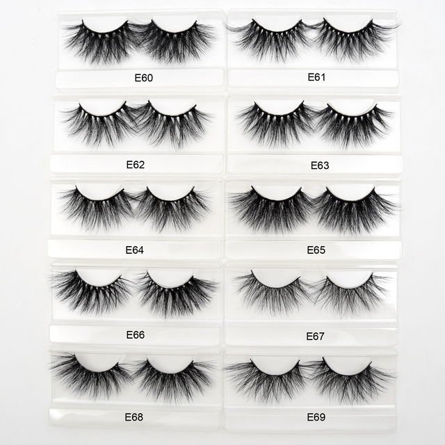 Visofree Eyelashes Mink Eyelashes Criss-cross Strands Cruelty Free 3D 25mm Lashes Mink Lashes Soft Dramatic Eyelashes E80 Makeup 1