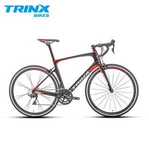 TRINX 22 سرعة ألياف الكربون الطريق الدراجة ايرو سباق دراجة 105 Derailleur مجموعة الفرجار الفرامل المدمجة إطارات Bicicletta
