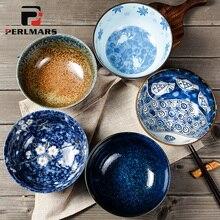 6.5 inch Japanese Style Noodles Bowl Ceramic Large Soup Bowl Vintage Fruit Salad Bowl Creative Home Restaurant Kitchen Tableware