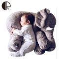 60CM Super Soft Big Elephant Baby Sleeping Cushion/Pillow Kids Plaything Stuffed Animal Plush Toys Gray Pink Blue Yellow Dolls