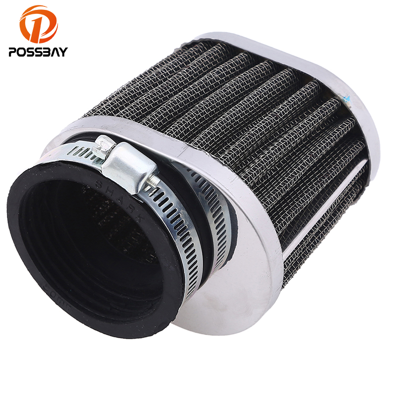 POSSBAY 50MM Motorcycle Air Filter Mushroom Head Scooter Air Filter Clamp-on Cleaner Air Pods Universal for Honda Yamaha Suzuki