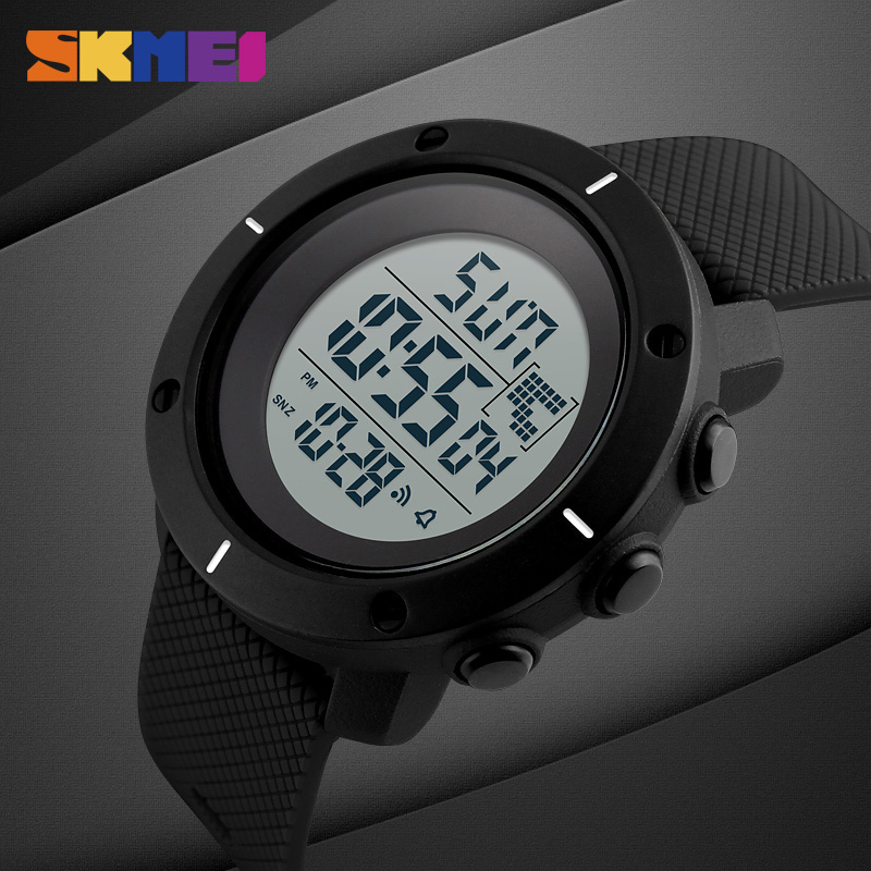 Fashion Brand Sports Military Watch Big Dial 2 Time Zone Mens Watches Digital Led Watch Fashion Casual Electronics Wrist Watches Digital Watches