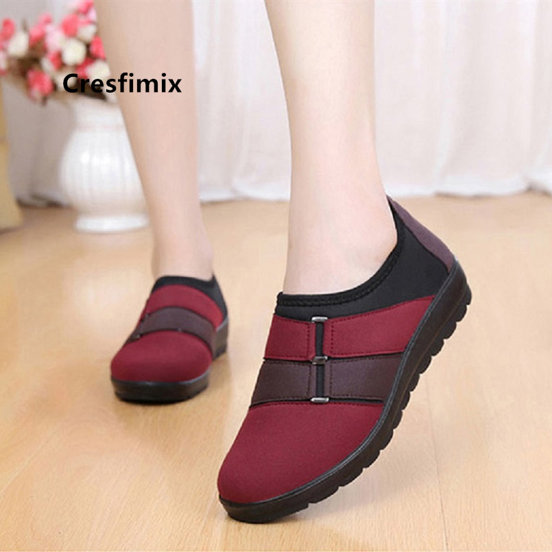Women Fashion Light Weight Comfortable Slip on Flat Shoes Lady Soft & Comfortable Red Dance Shoes Cool Retro Brown Shoes E2386Women Fashion Light Weight Comfortable Slip on Flat Shoes Lady Soft & Comfortable Red Dance Shoes Cool Retro Brown Shoes E2386