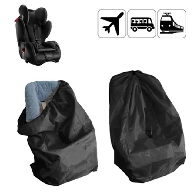 Black Portable Car Seat Kid Travel Bag For Baby Child Safety Seats Dust Protection Cover