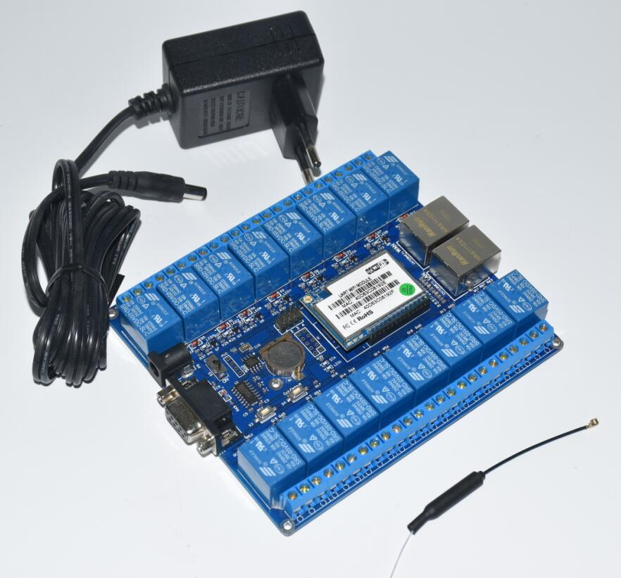 HLK-SW16 16 Channel Remote Control Relay P2P Wireless WIFI Module Board Smart Network Relay Control Switch 5V TCP/IP