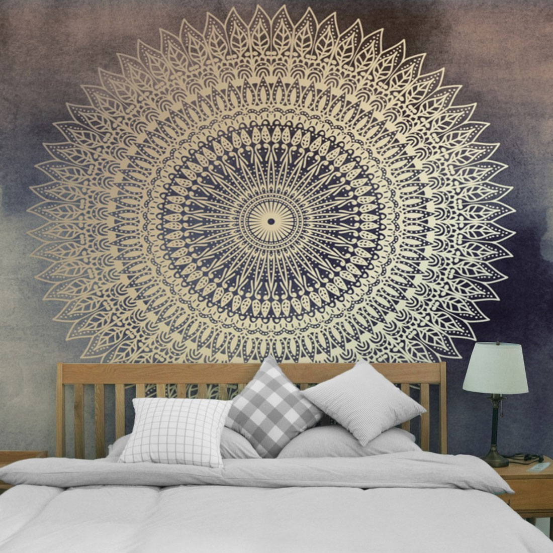 Indian Wall Home Decor Hippie Tapestries Boho Psychedelic Mandala Tapestry Wall Hanging Sheet Camping Tent Travel Sleeping Pad