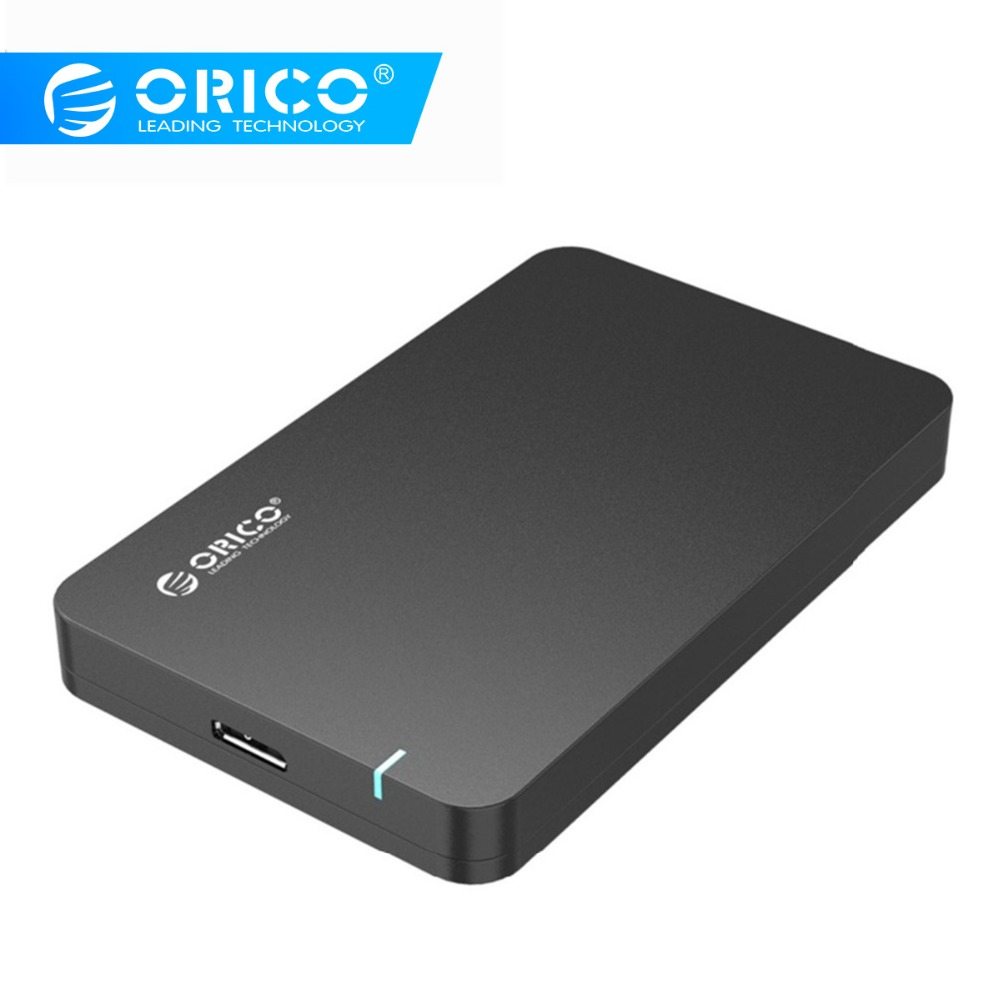 ORICO 2.5 SATA3 To USB3.0 MICROB Hard Drive Disk Box SSD HDD External Enclosure Case Support 5GBPS UASP Tool Free Portable 9.5mm