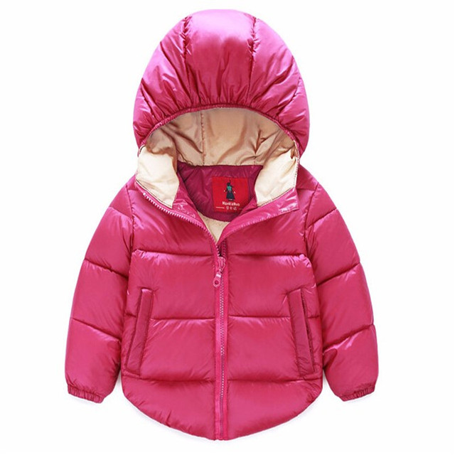 The New 2016 Children Warm OverCoat Coat Coat Fashion Boys And Girls Hooded Children's Wear Children's Clothing