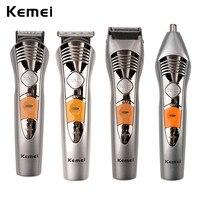 Kemei 7 1 방수 전기 머리 깎기 세트 충전식 헤어 트리머 남성 전기 면도기 수염 트리머 코