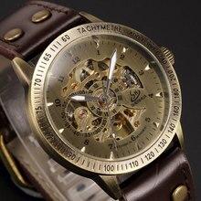 Automatique Mouvement Analogique Montre-Bracelet En Cuir Véritable Bracelets Femmes Hommes Cadeaux W15270