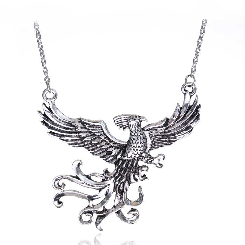 dongsheng Fashion Movie Jewelry Dumbledore's Pet Phoenix Fawkes Pendant Immortal Bird Phoenix Necklace Fashion Gift For Fans -30