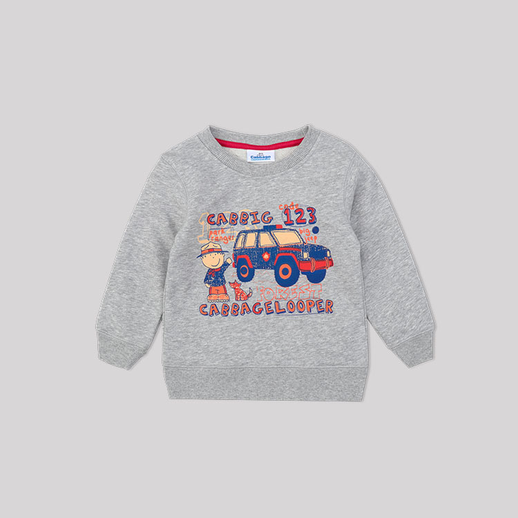 childrens clothing 2018 spring new Indian car boys children hoodie sweatshirt