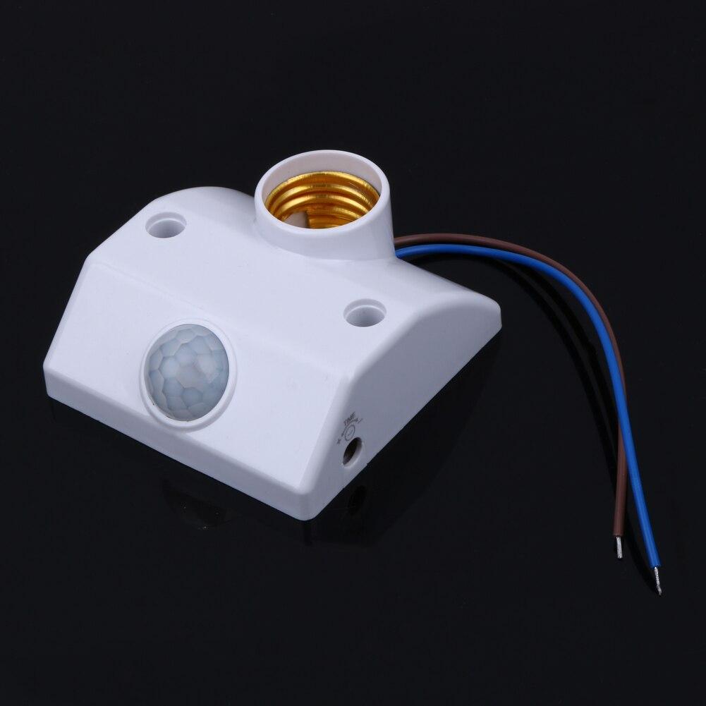 E27 220V Licht Lampe Halter Infrarot Motion Sensor Automatische Schalter Basis PIR Motion Sensor Schalter W/Schrauben Licht halter Buchse