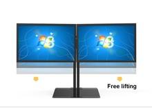 """Rotação completa 15 """"-27"""" Tela Dupla Titular Monitor de TV LCD de Montagem Suporte de Mesa Base S031"""