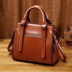Image 5 - LUYO Bolso de piel auténtica de marca de lujo para mujer, bandolera de diseñador, bolso de hombro