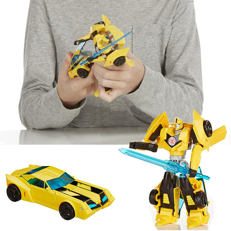 product Transformation Robot Human Alliance Bumblebee and Sam With Weapon Action Figures Toys Classic Playskool Heroes Rescue Bots Toy