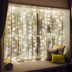Image 5 - 10 × 5メートル1600電球妖精ledカーテン結婚式ライト装飾クリスマス花輪パーティーホーム新年ホリデー装飾照明