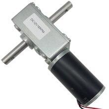 O verme alto do torque do eixo dobro alinhou o motor 24v 12 volts 5-470rpm que trava a velocidade ajustável invertida para a cremalheira de secagem automática