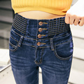 New Fashion Jeans elastic Slim high waist jeans female trousers pencil pants