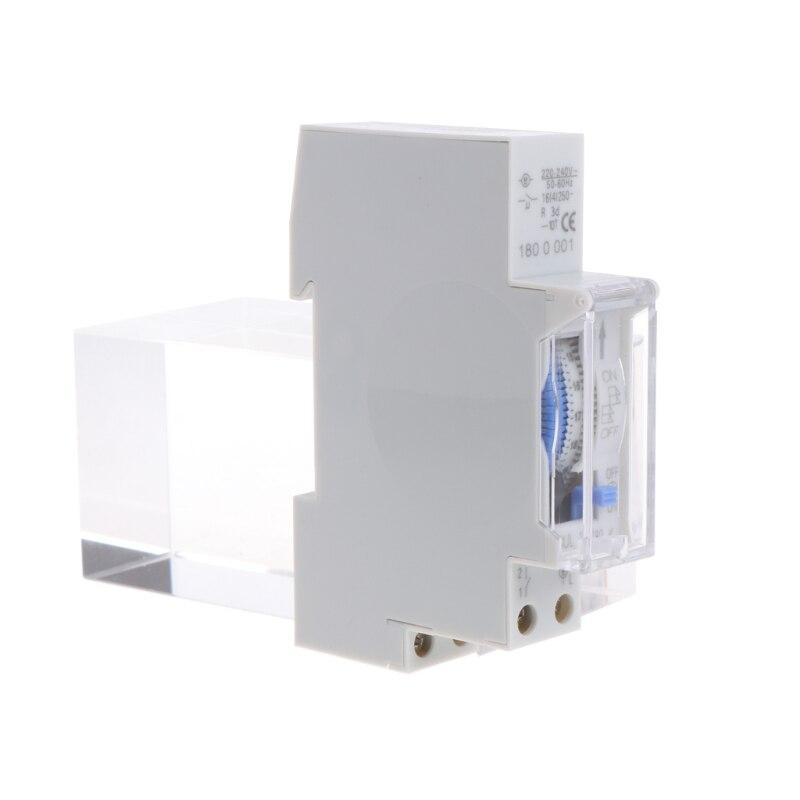 AC 110V/AC 220V 15 Minutes Mechanical Timer Switch 24 Hours Programmable Din Rail L15