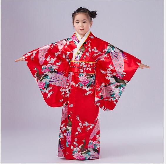 5 Färger Barn Yukata Obi Vintage Japanese Gril's Kimono Kids Yukata - Nationella kläder - Foto 5