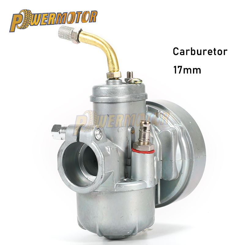 PowerMotor Motorcycle Carburetor 17MM FOR PUCH 17 Bing Dax Replacement BIKE Carburetor Moped Bike Fit PUCH 17mm Carb Bing Style