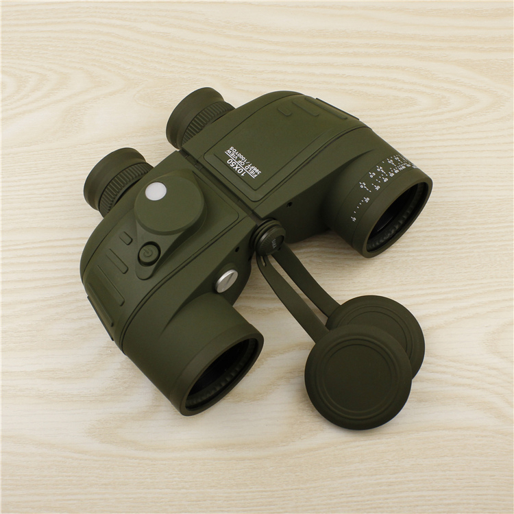 10x50 powerful waterproof binocular telescope with compass font b rangefinder b font optics binoculars with bak4