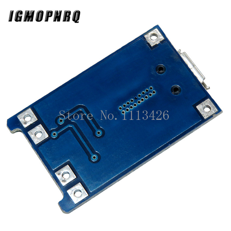 Image 2 - 100Pcs Micro USB 5V 1A 18650 TP4056 Lithium Battery Charger Module Charging Board With Protection Dual Functions 1A Li ion-in Integrated Circuits from Electronic Components & Supplies